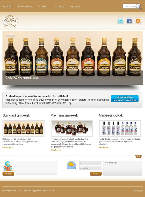NetFox.hu - CAMPONA Italgyártó - honlapkészítés