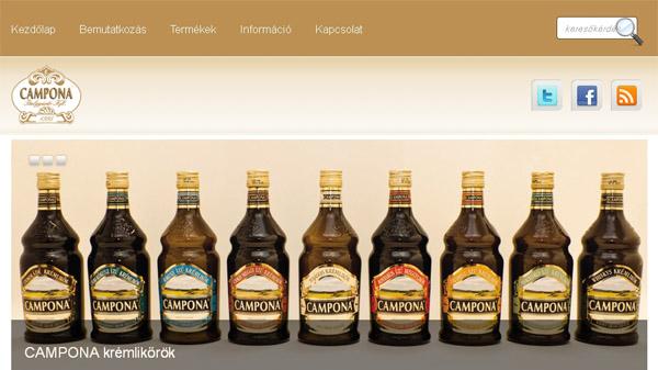 CAMPONA Italgyártó – honlap készítés
