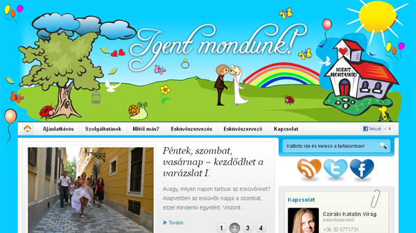 Elkészült az igentmondunk.hu esküvőszervező honlapja