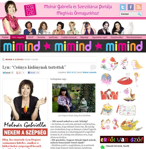 Elindult Molnár Gabriella új honlapja a MIMIND