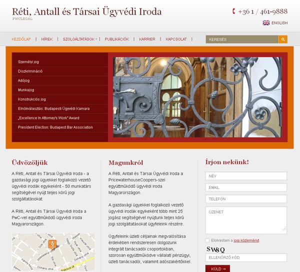 Megújult a Réti, Antall és Társai Ügyvédi Iroda honlapja