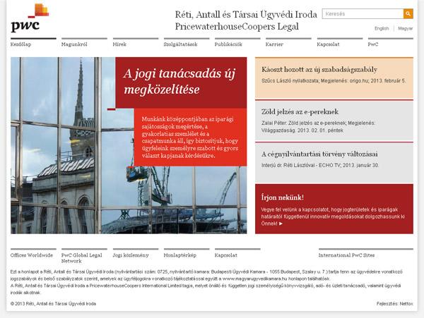 Reszponzív honlap a Réti, Antall és Társai Ügyvédi Irodának