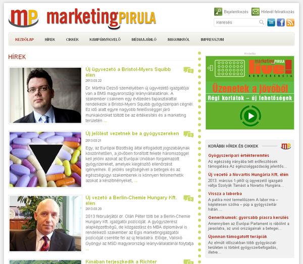 Reszponzívan újult meg a marketingpirula.hu
