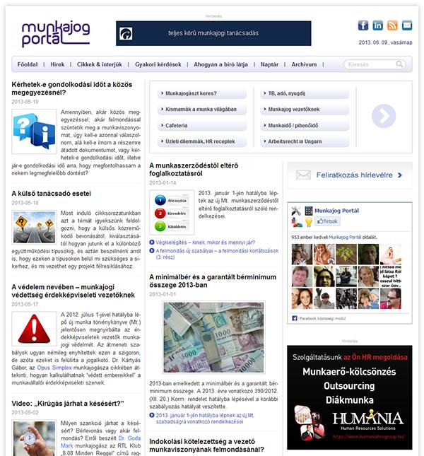 WordPress alapokon a Munkajog Portál